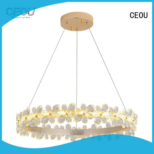 Latest hanging crystal chandelier acrylic Supply for dinning room
