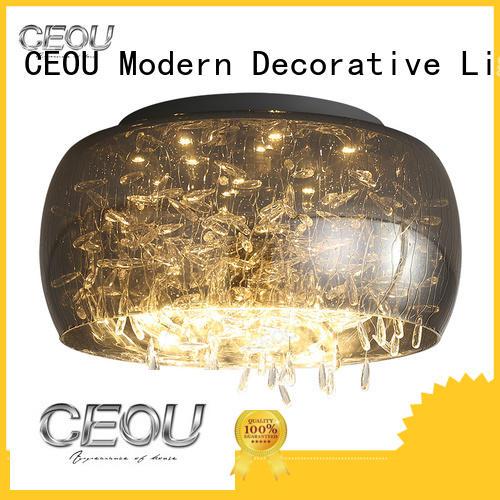 CEOU glass led ceiling light fixtures manufacturer for living room