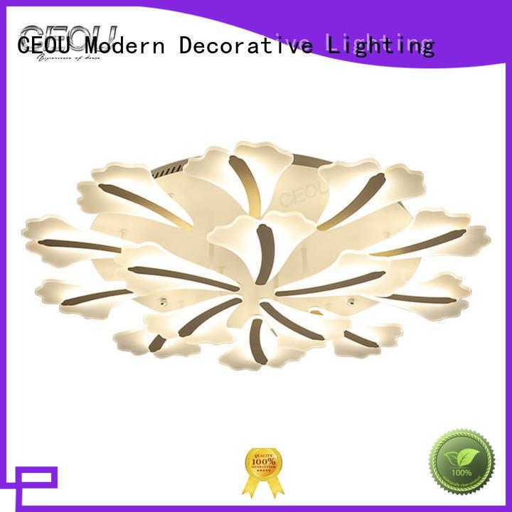 sunflower pattern modern ceiling lights living room gold for hotel CEOU