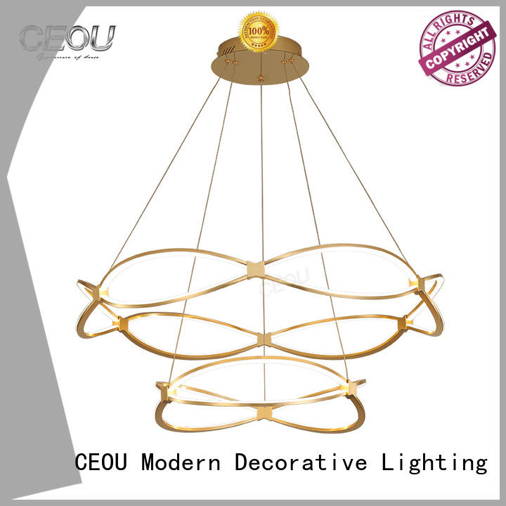 CEOU aluminum modern circular chandelier manufacturer for home decor