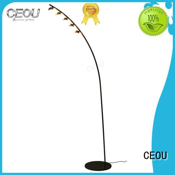 CEOU acrylic led reading floor lamp customized for hotel