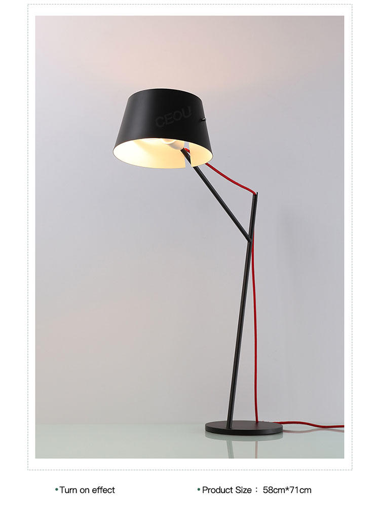 black reading lamp supplier for residential CEOU-2