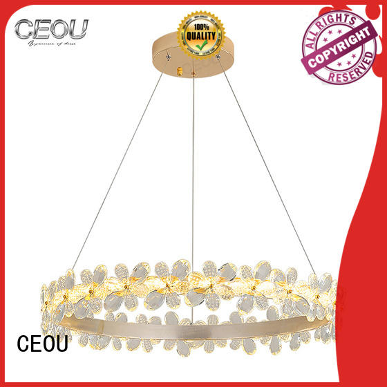 CEOU flower shaped decorative glass pendant lights for home decor