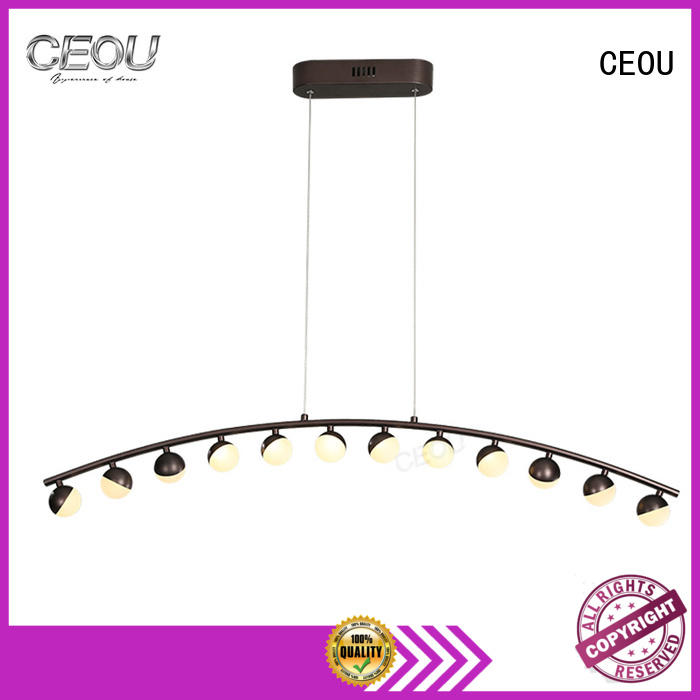 CEOU glass modern bedroom pendant light manufacturers for hotel