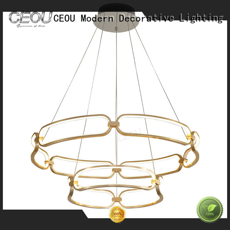 CEOU linear decorative glass pendant lights manufacturer for home decor