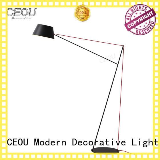 CEOU nordic led floor reading light Iron for living room