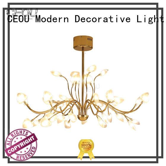 CEOU simple chandelier lights for living room flower shaped for living room