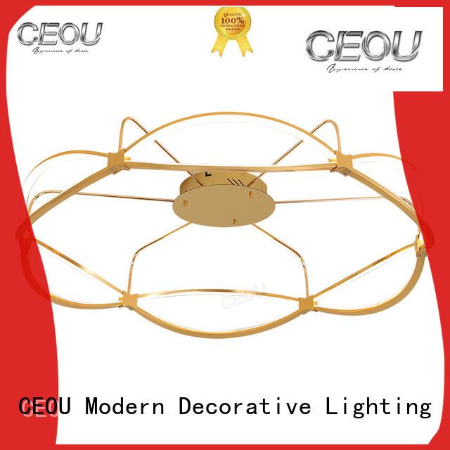 CEOU glass ceiling light design manufacturer for living room