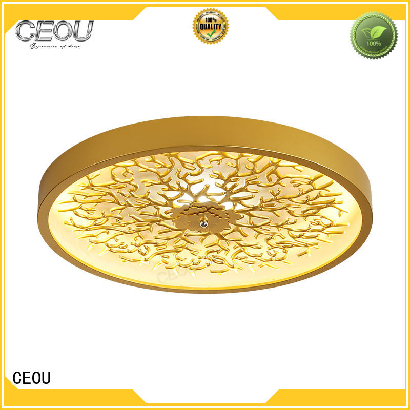 CEOU glass led ceiling light fixtures high quality for bedroom