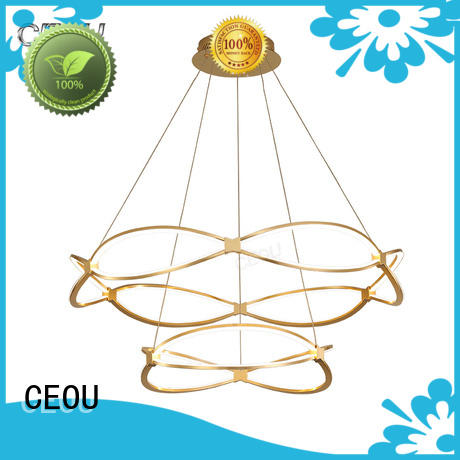 romantic unique pendant lights linear customized for living room