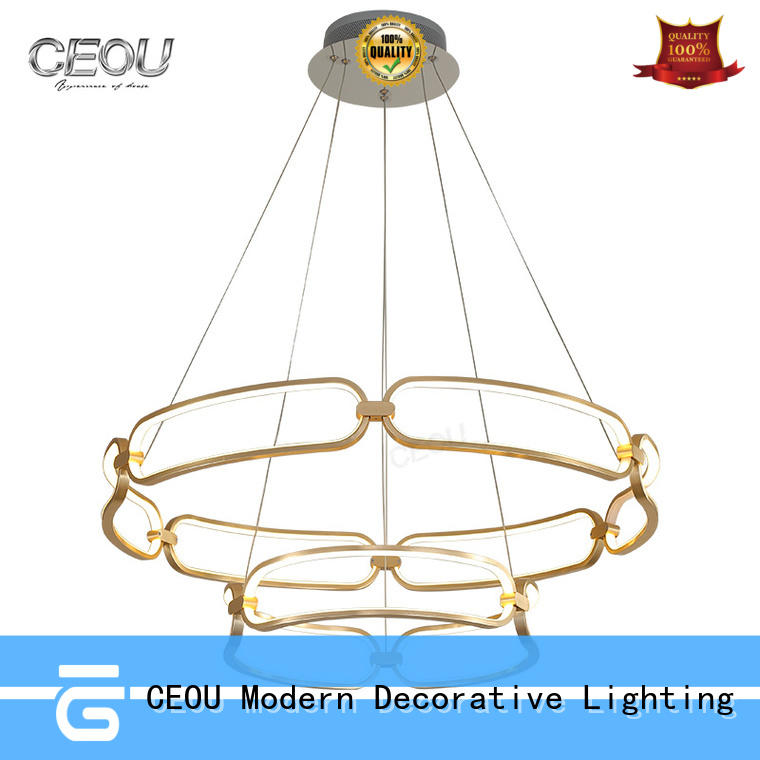 CEOU simple unique hanging lamps crystal for living room