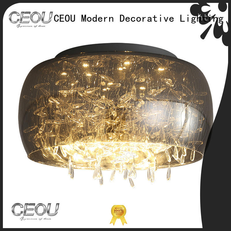 CEOU sand black ceiling light fixture high quality for hotel