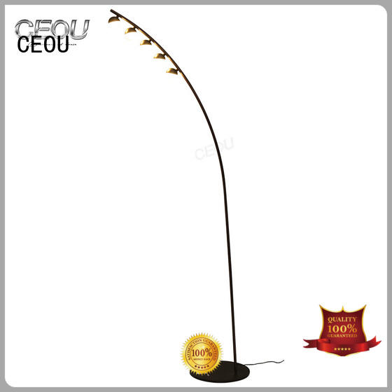 high temperature painting finish multi light floor lamp high quality for bedside CEOU