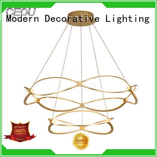 beautiful modern pendant light gold customized for hotel