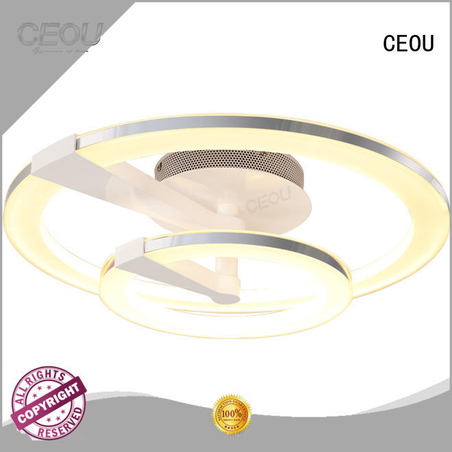 CEOU flower shape led ceiling light fixtures supplier for bedroom