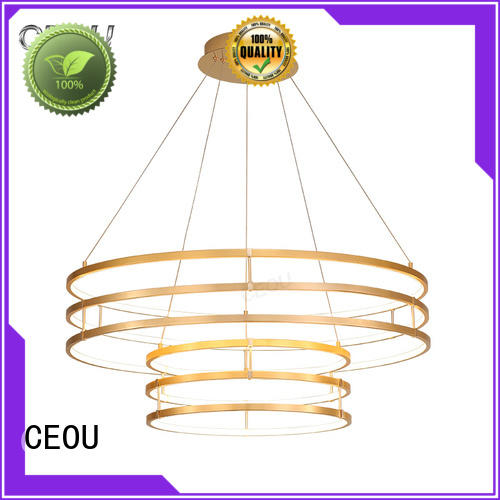 CEOU gold indoor pendant light Supply for hotel