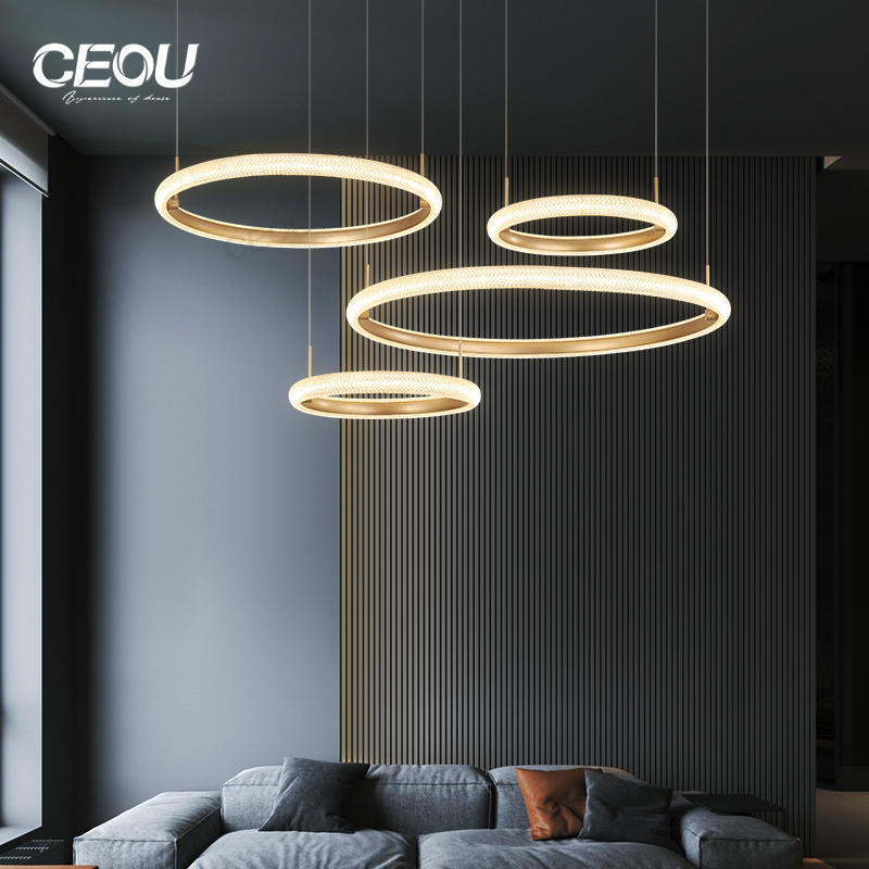 Wholesale Simple atmosphere pendant light for dining room Nordic wind chandelier light luxurious living room lamp With Good Price-CEOU