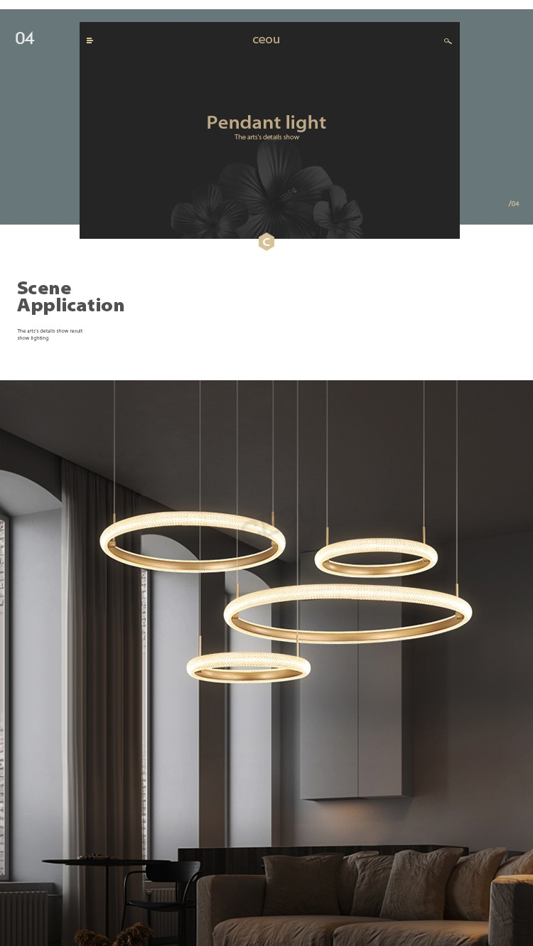 product-CEOU-Wholesale Simple atmosphere pendant light for dining room Nordic wind chandelier light -1