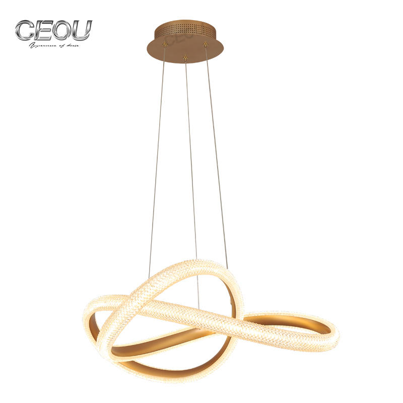 High Quality 2020 new creative design modern pendant light simple and luxury dining room lamps Nordic style gold finish lamp Wholesale-CEOU