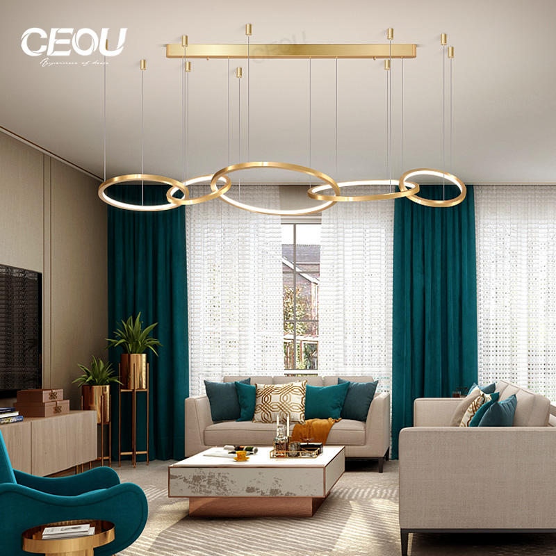 Professional Post-modern light luxury living room chandelier atmosphere dining room chandelier creative personality Nordic chandelier Factory From China-CEOU