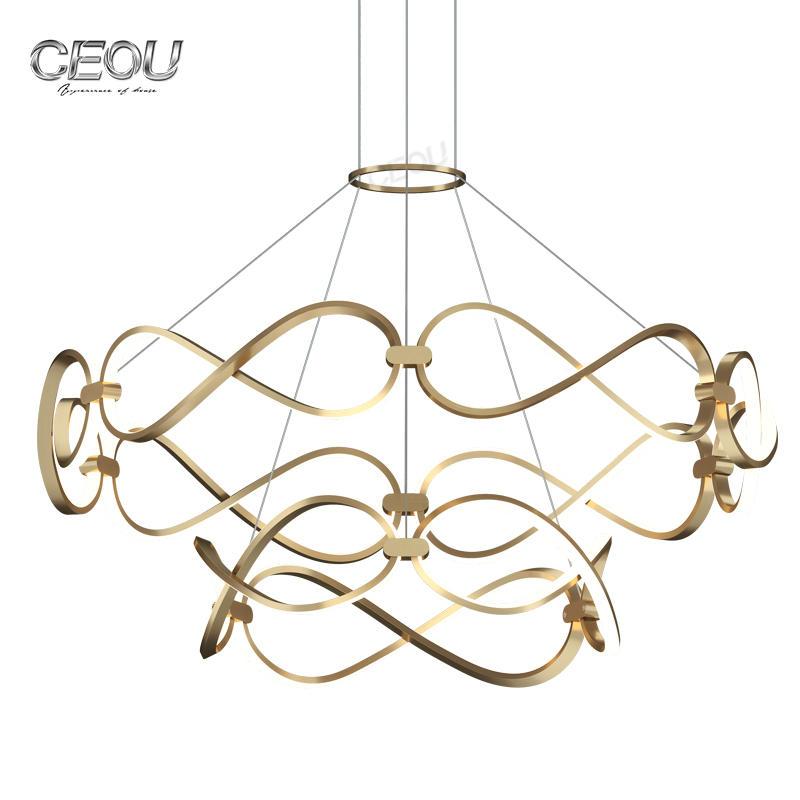 Luxury livingroom chandelierat mosphere diningroom chandelier creative personality Nordic chandelier