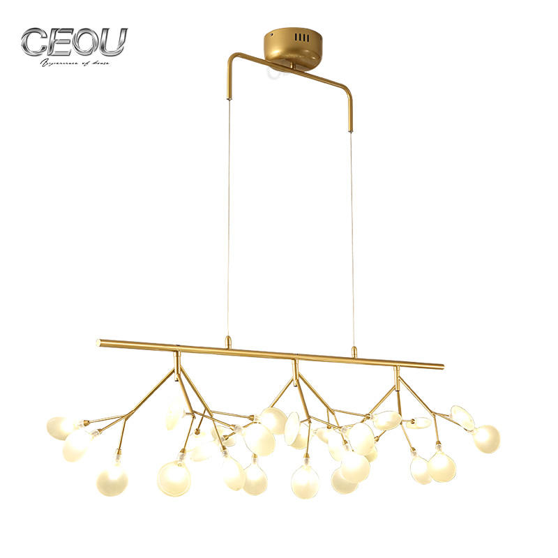 New design Nordic firefly creative art post-modern light minimalist modern coffee bar chandelier Wholesale-CEOU