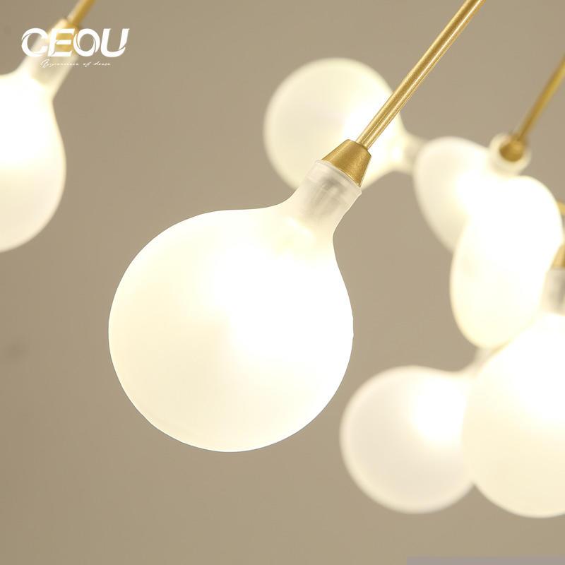 New design Nordic firefly creative art post-modern light minimalist modern coffee bar chandelier Wholesale-CEOU